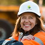 Happy in work –  senior woman engineer
