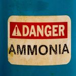 Ammonia Caution Sign