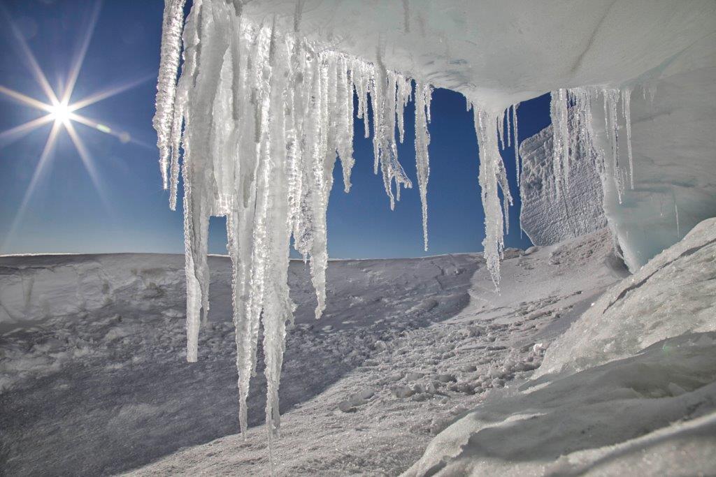 Snowy landscape in Antarctica