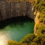 Aerial view of the Big Hole at the Kimberley Diamond Mine