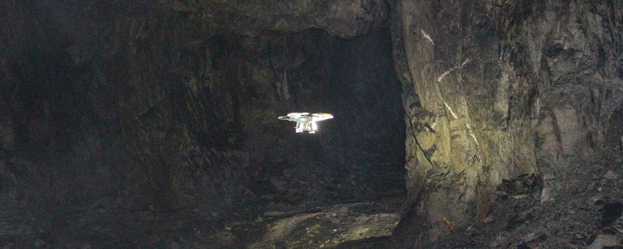 Hero Image: Drones Support Underground Investigations at Giant Mine Remediation Project