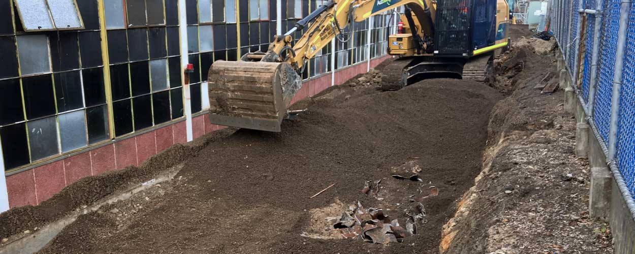 Remediating contaminated manufacturing site